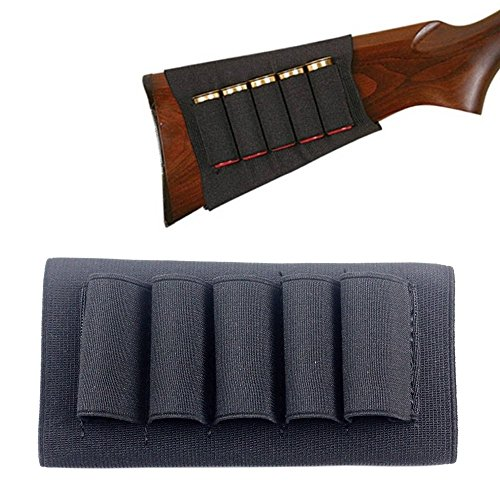 Kosibate 1PCs Butt Stock Buttstock Rifle Shotgun Shell Cartridge Holder Carrier for 12G 12 Gauge/20G 20 Gauge (Black)