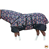 HILASON 78 in 1200D Ripstop Waterproof Turnout Winter Horse Blanket Neck Cover