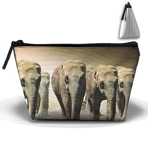 Astuccio portatile trapezoidale in vetro artistico fresco modello cosmetici borse da viaggio articoli da toeletta cerniera portamatite