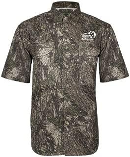Southeastern Oklahoma State Camo Short Sleeve Performance Fishing Shirt 'New Primary Logo Embroidery'
