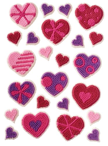 Wilton Patterned Hearts Icing Decorations