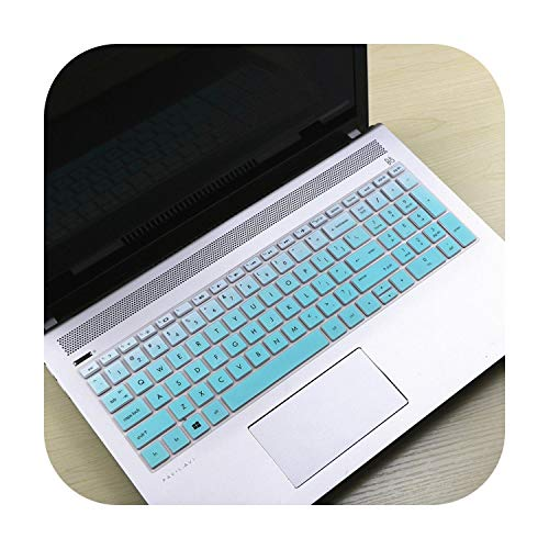 2017 New 15 15.6 inch Notebook Laptop Keyboard Cover Protector Skin For X360 15-bd001TX PAVILION 15-CB073TX / CB075TX-Gradual Skyblue-