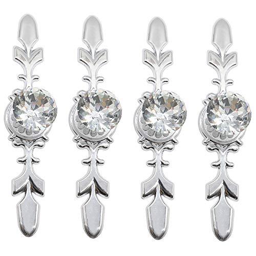 4 pezzi Pomoli per porta in cristallo, pomelli per armadio guardaroba, pomelli per porta in cristallo(116mm)