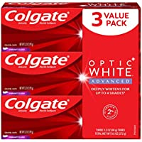 3-Pack Colgate Optic White Advanced Teeth Whitening Toothpaste