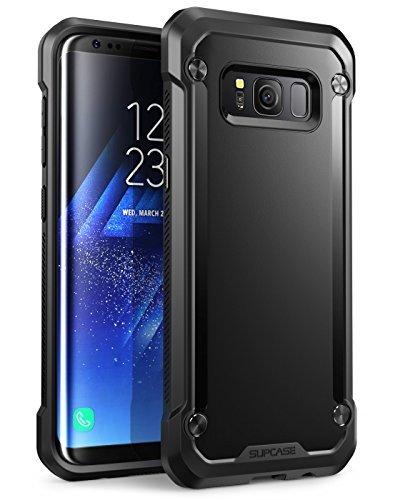 SupCase Samsung Galaxy S8+ Plus Case, Unicorn Beetle Series Premium Hybrid Protective Frost Clear Case for Samsung Galaxy S8+ Plus 2017 Release, Retail Package (Black/Black)