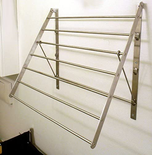QQOUTLET Quality inspection Wall Mounted Clothes Drying Branded goods Rack Steel Space Stainless