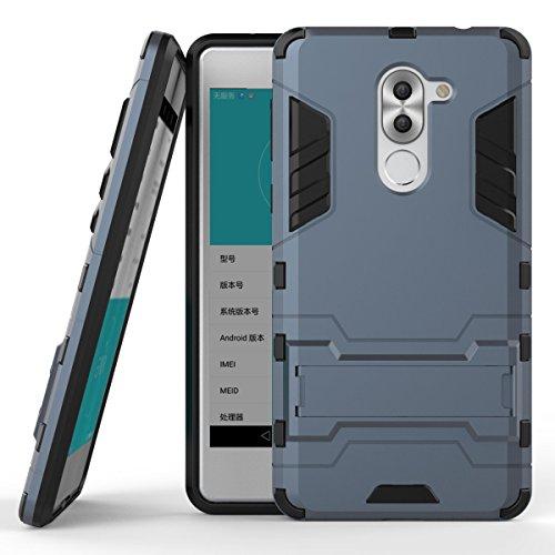 Huawei Honor 6x Hülle, CHcase (Rüstung Series) Huawei Honor 6x Dual Layer Hybrid Handyhülle Drop Resistance Handys Schutz Hülle mit Ständer für Huawei Honor 6x -BLack