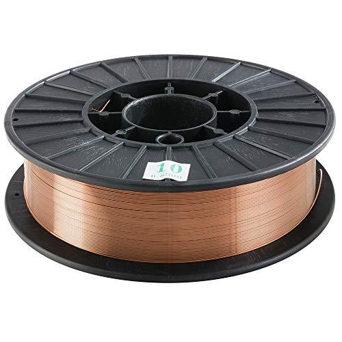 Arebos® Schutzgas Schweißdraht SG2 5 Kg Rolle ø 0,8 mm Schwarz