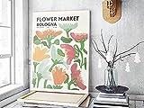 UHYGT Blumenmarkt Bologna Poster und Drucke Vintage