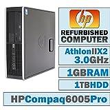 HP 6005 Pro SFF/Athlon II X2 B24 @ 3.00 GHz/1GB DDR3/1TB HDD/DVD-RW/No OS