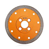BGTEC Disco de Corte de Cuchilla de Diamante Turbo de Malla X de 115 mm para Mármol de Porcelana de Cerámica