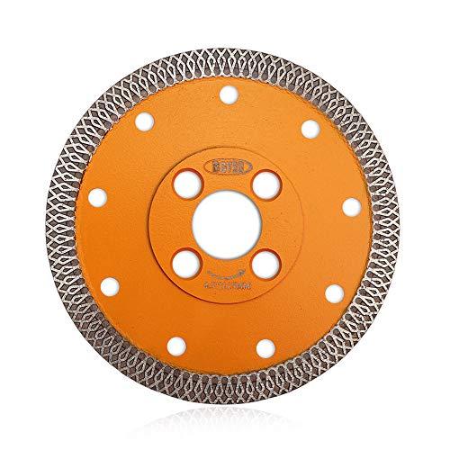 BGTEC Disco da Taglio con Lama Diamantata Turbo Mesh 115mm X per Piastrelle in Ceramica, Marmo Porcellana