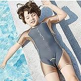 ZMMYD Traje de baño de natación Traje de baño de una Pieza de Manga Corta para niños Traje de...