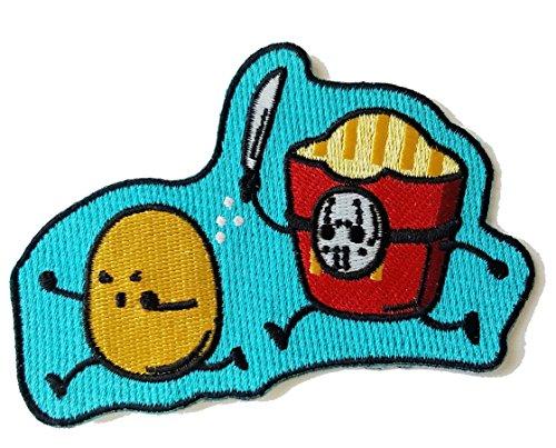Hat Shark 'French Fried Jason' Funny Horror Film Parody   Novelty Iron On Patch...