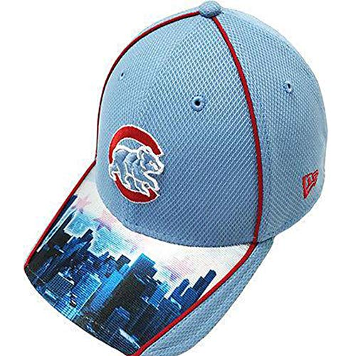 New Era Chicago Cubs MLB Adult 39THIRTY Chicago Skyline Fitted Hat (M/L)