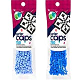 Perler Caps - Solid-Top Fuse Beads - 2 Pack Bundle - Blueberry Creme and Cobalt