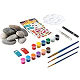 YEAHOME Rock Painting Kit for Kids, Arts and Crafts DIY Supplies Kit with River Stones, Paint Maker Pen, Palette, Transfer Stickers, Acrylic Paint, Painting Brushes, Stone Holder