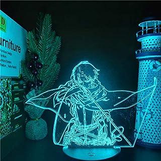 Attack On Titans LED Lamp Levi Ackerman 3D Anime Night Light Bedroom Decor Kid Lampe Home Decoration Lampara De Noche Dorm...