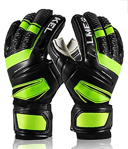 Professionelle Torwarthandschuhe (Größen 5-10, 2 Modelle, Stufe 5) 4 mm EXT-Kontaktgriff | Pro-Torwarthandschuhe für Elite-Spiel | Maximaler Griff-Green-7