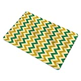Homesonne Tin Metal Sign Chevron, Traditional Colorful Lines Tin Drawing Art Great for Hanging On Garage Wall 11.8 x 15.8 Inch