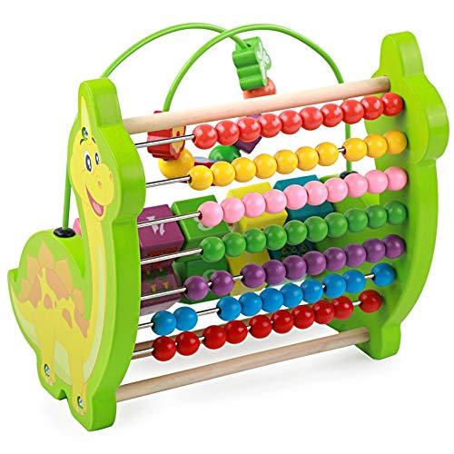 Labyrinthe de Perles Jouer à Cube Activity Center - Wood, Gears, Abacus, Spin Cube et 7 Différentes options de jeu perles Jeu de Jouets éducatifs pour Tout-petits ( Color : Green , Size : Free size )