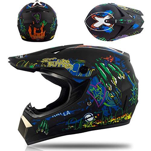 Motorfiets off-road helm kinderen en adolescenten elektrische helm skelter volledige helm helm-Domme zwarte klauwen Lichte, comfortabele en veilige helm_L