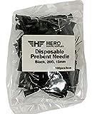 HERO Black Dental Disposable Pre-Bent Flow Tip Composite Flowable Etch 20 Gauge 13mm (100 per Bag)