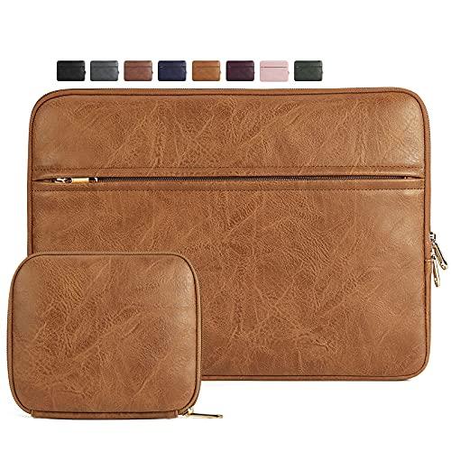 NEWHEY Custodia PC Portatile 14 Pollici Compatibile con 13.3 MacBook Air PRO, Notebook, Impermeabile Custodia Borsa, Laptop Sleeve Case con Piccola Borsa per Accessori, Marrone