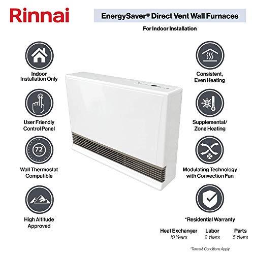 Rinnai EX38CTN Furnaces, 38k BTU, EX38CTN-Natural Gas/Beige