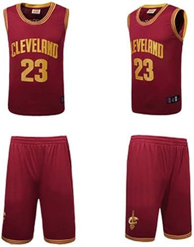 YDYL-LI Cleveland Cavaliers 23 Uniforme De Basket-Ball Maillot James   Lebron James Uniforms Veste De Sport sans Manches Compétition Uniformes Fans Uniformes De Basket-Ball (Taille  S-XXXL),rouge,L