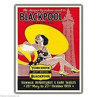 Yorkshire Blackpool 金属板ブリキ看板警告サイン注意サイン表示パネル情報サイン金属安全サイン