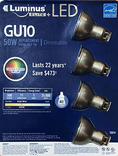 GU10 LED Dimmable 4PACKS 7W