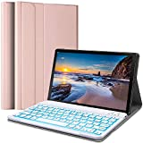 Wineecy Galaxy Tab S6 Lite 2020 Keyboard Case 10.4[SM-P610,SM-P615 Backlit], Wireless Detachable Keyboard with Protective Cover for Samsung Galaxy Tab S6 Lite 10.4 inch 2020, SM-P610/P615, Pink
