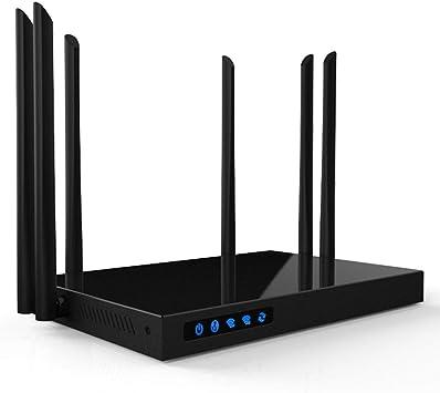 CAPTIANKN WiFi de Doble Banda de Alta Potencia Gigabit Router inalámbrico, enrutador de Internet inalámbrico para el hogar, 1750Mbps, 256MB de Memoria ...