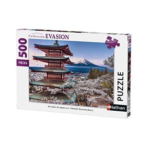 Nathan–Puzzle AU Coeur DE JAPÓN 500Piezas, 87154