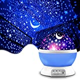 Star Projector, MOKOQI Night Light Lamp Fun Christmas Gifts for 1-4-6-14 Year Old Girls and Boys Kids Bedroom Decor -Blue