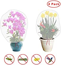KeyEntre 4 Pack Insect Bird Barrier Net Mesh with Drawstring, 3.5Ftx2.3Ft Tomato Protective Cover Garden Plant Barrier Bag for Vegetables Fruits Flower from Insect Bird Eating (Large 4 PCS)