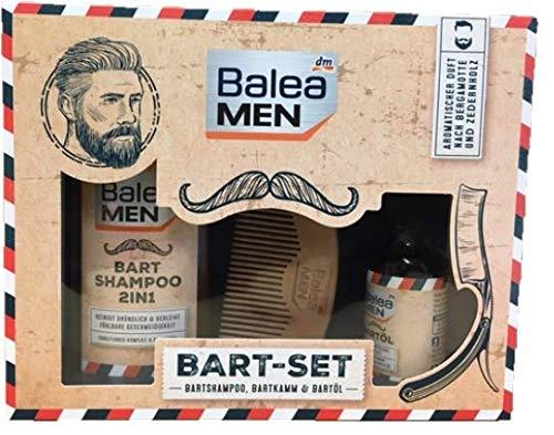 BaleaMenbartset (champú para barba, peine para barba y aceite para barba)