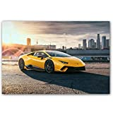 Lamborghini Aventador Roadster Art Poster Print Wall Art Wall Picture Canvas Painting Home Decor 40X60Cm Sin Marco