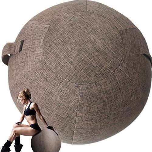 POIUYT 【Solo Copertina】 Copri-Palla Fitness 75cm Sedia Palla Ufficio Ergonomica Antiscoppio Copertura per Palla da Seduta Copri Morbido per Palla Pilates Yoga Gravidanza…