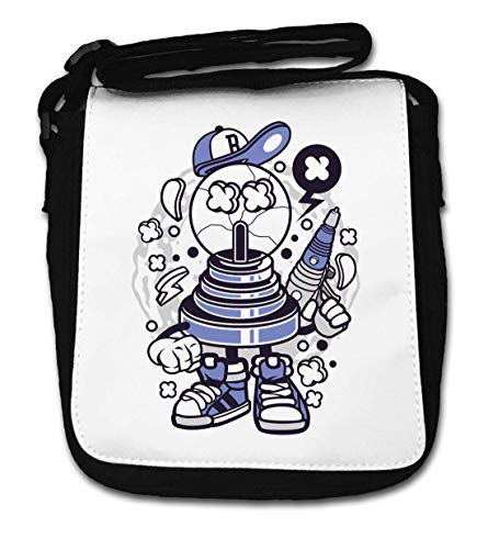 Fortune Ball Laser Pistol Urban Cartoon Art Small Shoulder Bag