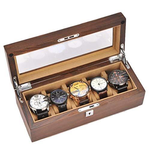 Welry Box - Madera Rabia de Reloj Caja de Madera sólida con la Cerradura exhibición del Reloj olecci Caja de Reloj B JIAJIAFUDR