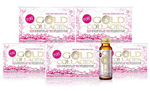 Pure Gold Collagen | The Original #1 Liquid Collagen Peptides Supplement | Hydrolyzed Marine Collagen Drink with Hyaluronic Acid, Borage Oil, Vitamins for Skin, Hair, Nails & Joints | 50 Day Mini