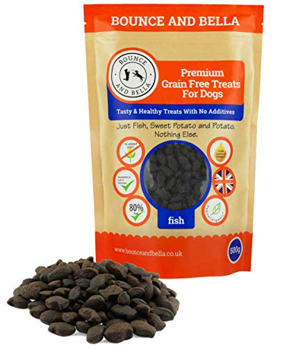 Grain Free Dog Training Treats - 1000 Tasty Treat Pack - 80% Steam Cooked Fish and 20% Potato & Sweet Potato - Hypoallergenic with Omega-3 and vitamins A and D3 for Healthy Dogs (2 Pack)