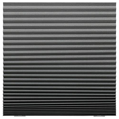SCHOTTIS - Estor plisado, 100 x 190 cm, color gris oscuro