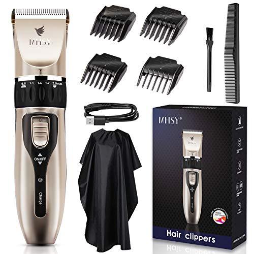 MHSY Professional Haarschneidemaschine Profi Haarschneider für Männer, wiederaufladbares Akku-Haarschneider-Set mit Keramikklinge für den Familiengebrauch