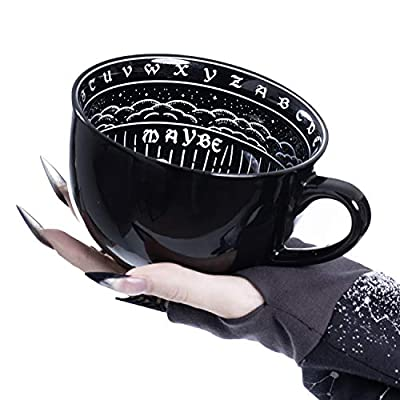 Large Coffee Mug in Gift Box By Rogue + Wolf Cute Mugs For Women Unique Spooky Witch Gifts Novelty Tea Cup Goth Decor - 17.6oz 500ml Porcelain (Ouija)