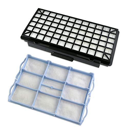 1 Set 1 Hepafilter + 1 Motorschutzfilter Filter passend für Bosch BSGL5 Serie BSGL51332 Free`e Compressor Staubsauger