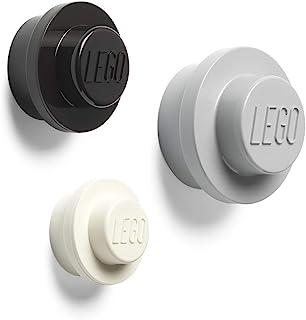 LEGO Wall Hangers, 3 Pieces (White, Black, Grey)