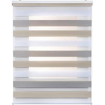 STORESDECO Estor Noche y Día, Estor Enrollable con Doble Tejido para Ventanas y Puertas (160 cm x 180 cm, Tricolor)